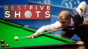 Five of the best shots as Barry Hawkins beats Graeme Dott 13-6 at the World Championship.