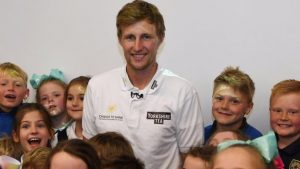 Joe Root returns to school to inspire next generation