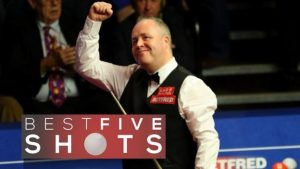 World Championship: John Higgins sees off Barry Hawkins – 5 best shots