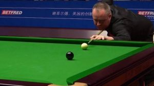 World Snooker final: Watch John Higgins' 141 break in one minute