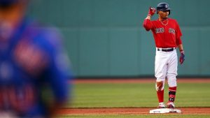 With Fenway in a frenzy, Boston's bats wake up long enough to clip Cubs