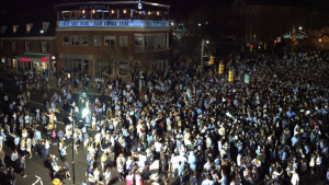 Final Four 2017: UNC fans celebrate in streets after victory over Oregon
