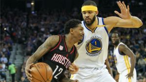 JaVale McGee sparks sloppy Warriors past James Harden and the Rockets — again