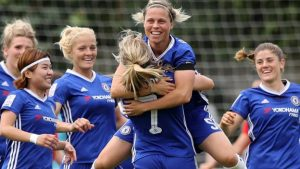 Title race swings  as Chelsea hit seven past WSL 1 leaders Liverpool