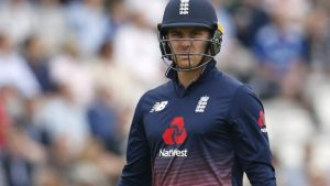 Watch: England opener Roy out for four
