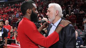 James Harden's disappearing act has everyone, including Popovich, baffled