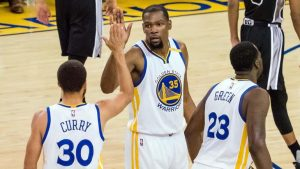 Kevin Durant says he doesn't plan on leaving Golden State: 'I love it here'
