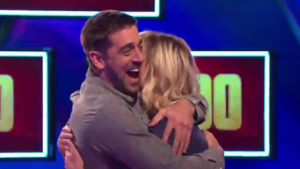 LOOK: Aaron Rodgers shows up on TV game show, helps a woman win $100,000