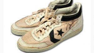 Game-worn Jordan sneakers break record