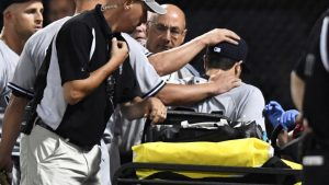 Yankees prospect Dustin Fowler suffers major knee injury in first big-league inning