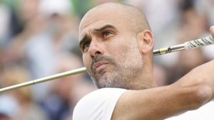 Pep Guardiola feels pressure during round with Rory McIlroy