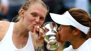 Whiley was 11 weeks pregnant when she won Wimbledon