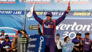 NASCAR at New Hampshire results, standings: Denny Hamlin wins to clinch playoffs