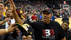 LaVar's AAU game officiated by 2 men, 1 woman