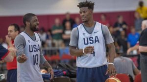 Report: Jimmy Butler, Karl-Anthony Towns recruiting Kyrie Irving to Wolves