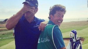 What's it like to caddy for a golf legend?