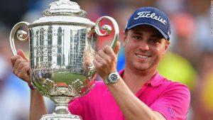 PGA Championship: Thomas triumphs at Quail Hollow