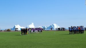 Watching whales and icebergs — and football?