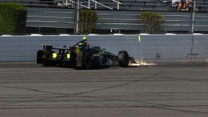 Video: Ed Carpenter crashes during IndyCar practice at Pocono