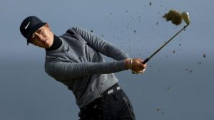 Women's British Open: Michelle Wie leads after setting course record at Kingsbarns