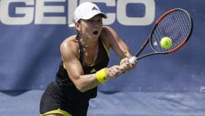 Washington Open: Simona Halep retires from quarter-final with heat-related illness