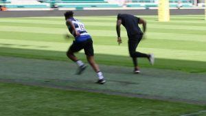 Watch: Anthony Watson and Ugo Monye's 100m face-off