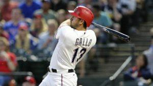WATCH: Joey Gallo hits home run so far his Rangers teammates can't believe it