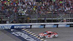Kyle Larson scores third consecutive NASCAR Monster Energy Cup win at Michigan