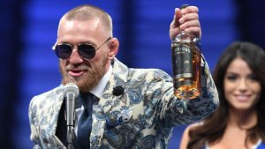 McGregor shows up to press conference with a bottle of his own 'Notorious' whiskey