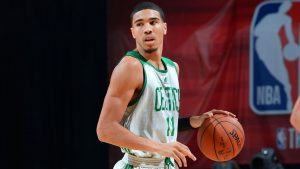 Tatum happy to stay in Boston, play with Irving