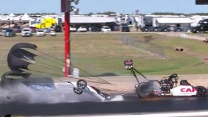VIDEO: NHRA Top Fuel points leader Steve Torrence survives tremendous crash