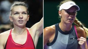 WTA Finals: Simona Halep and Caroline Wozniacki win on day two