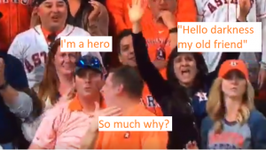 Every frame a painting — Astros fan throws Puig home run ball that wasn't his back
