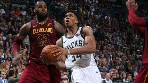 Giannis doesn't see himself at LeBron's level yet