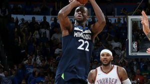 Wiggins helps Timberwolves escape after Westbrook, Anthony nearly bring Thunder back
