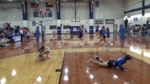 WATCH: High schooler flies through air to make a truly incredible volleyball save