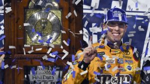 NASCAR Playoffs at Martinsville results: Kyle Busch wins; Elliott, Hamlin get into it
