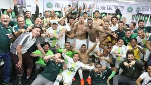 Chapecoense celebrate retaining place in Brazil's first division