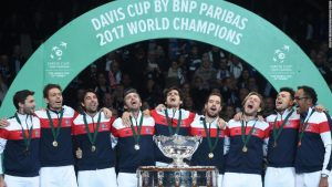 Pouille powers France to 10th Davis Cup crown