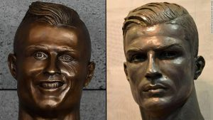 New Ronaldo bust revealed that actually looks like him