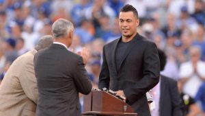 Marlins' Stanton could be third reigning MVP to be traded, second with ties to Jeter
