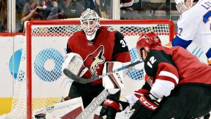 Coyotes deal goalie Domingue to Lightning