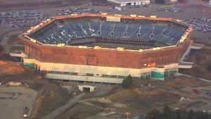Detroit's Silverdome still standing after attempted implosion