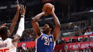 Embiid a late scratch for 76ers with stiff back