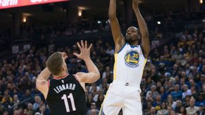 Warriors beat Trail Blazers in rematch of first round of 2017 playoffs