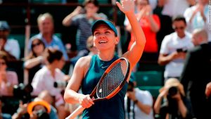 Halep reaches second straight French Open final