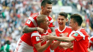 Russia opens World Cup with thumping win