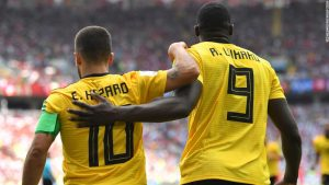 Lukaku and Hazard star as Belgium rout Tunisia