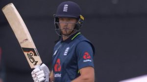 England v Australia: Jos Buttler hits ramp shot for huge six