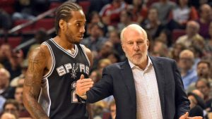 Gregg Popovich reportedly met with disgruntled Spurs star Kawhi Leonard on Tuesday